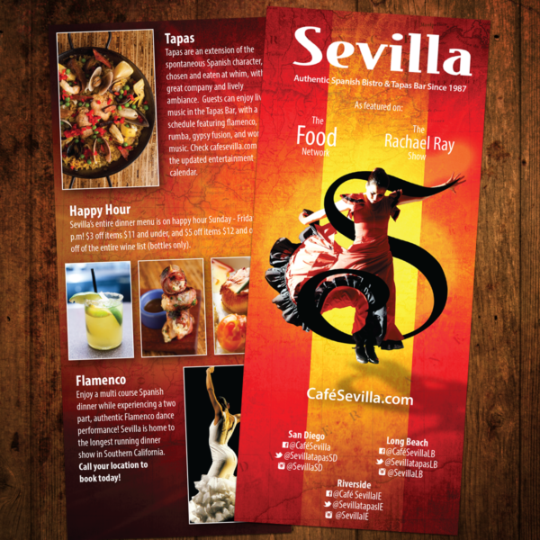 Cafe Sevilla Brochure