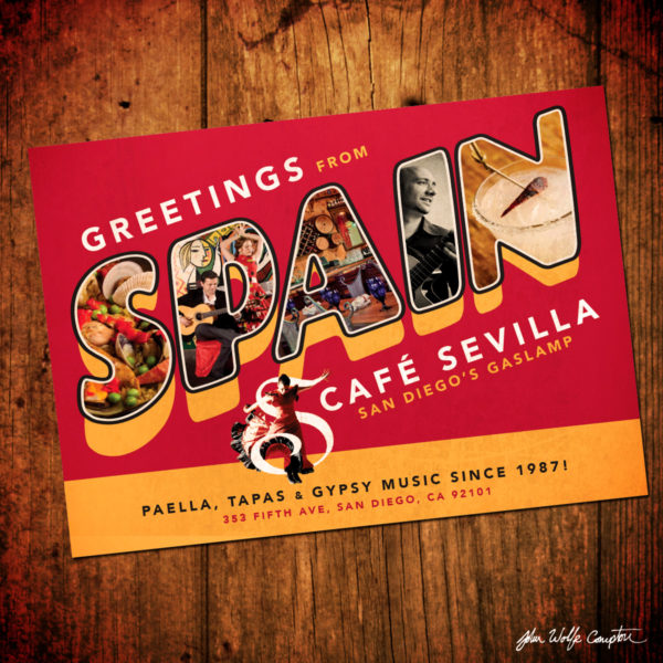 Cafe Sevilla Postcard