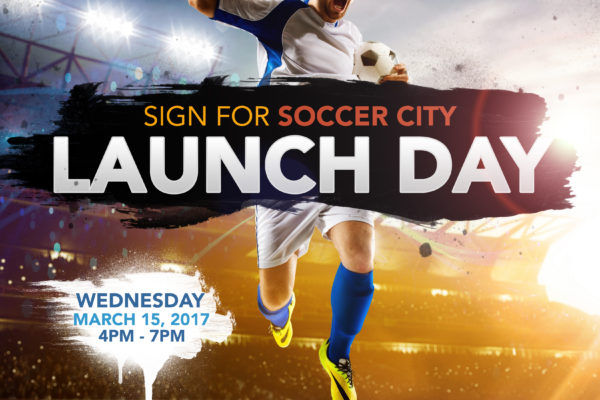 SoccerCity SD: Sign for Soccer City Poster