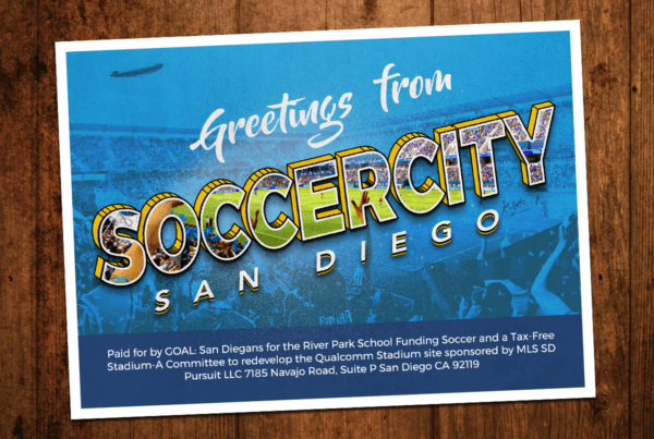 John Wolfe Compton | SoccerCity SD - Greetings Postcard