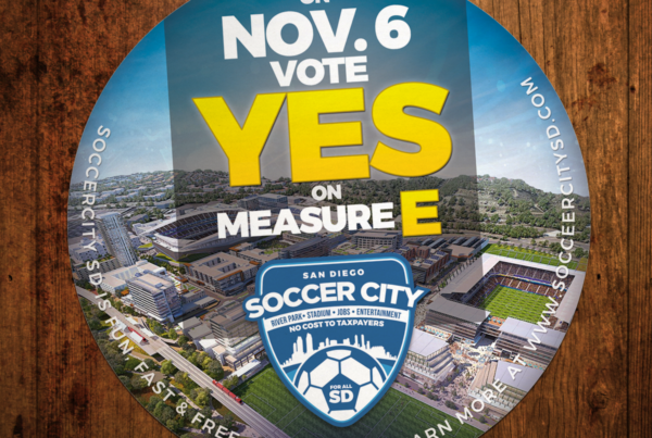 John Wolfe Compton - Portfolio SoccerCity SD - Yes on E Coaster